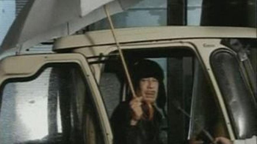 Gadafi desmiente que haya dejado el país. (EUROPA PRESS)