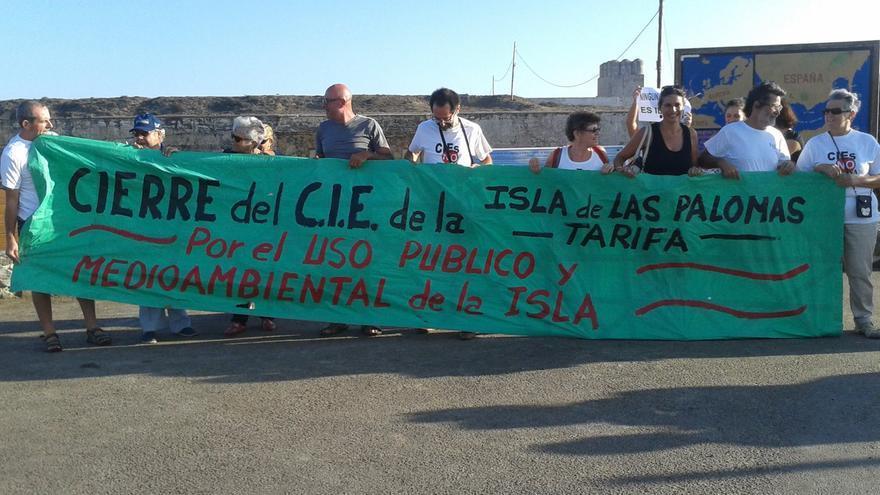 Imagen de una protesta por el cierre de las instalaciones tarifeñas