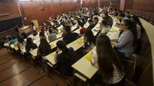 Un aula universitaria, en una imagen de archivo.