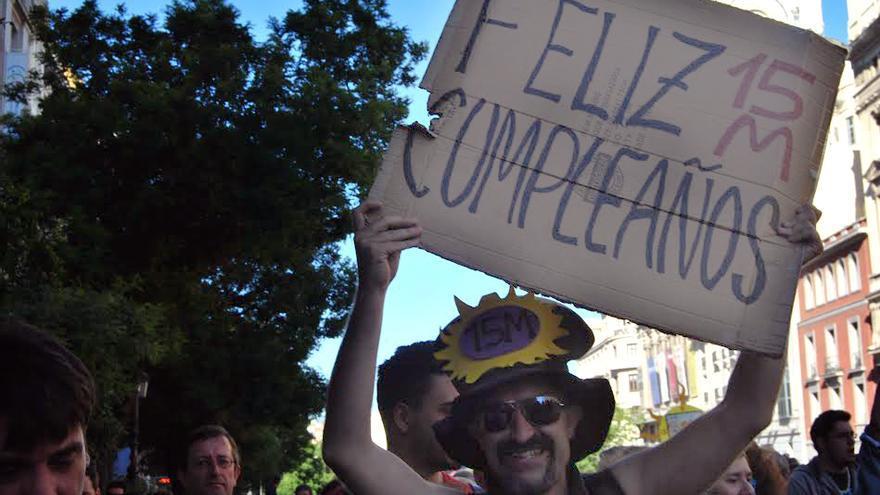 Madrid cuatro años después recuerda el 15 M. / Mercedes Domenech