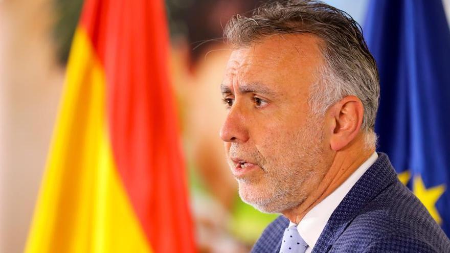Ángel Víctor Torres, durante una rueda de prensa en plena crisis por el COVID-19