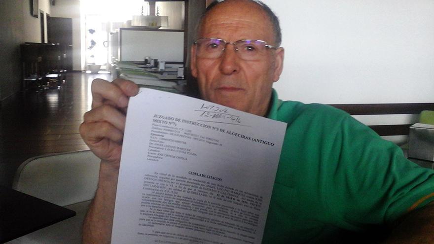 José Ortega (71 años), albañil jubilado.