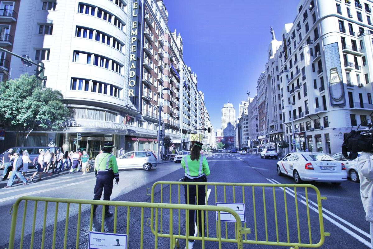 Imagen de la Gran Vía sin coches, el pasado septiembre de 2015 | SOMOS MALASAÑA