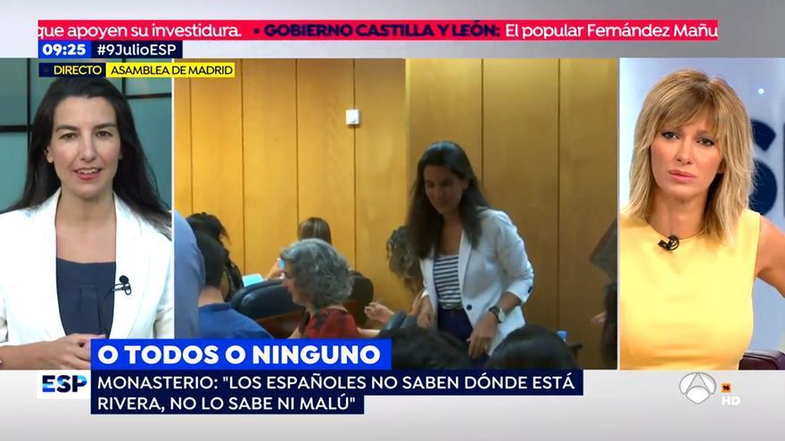 """Monasterio pide perdón a Rivera por su comentario sobre Malú: """"Reproduje una frase que escucho en la calle"""""""