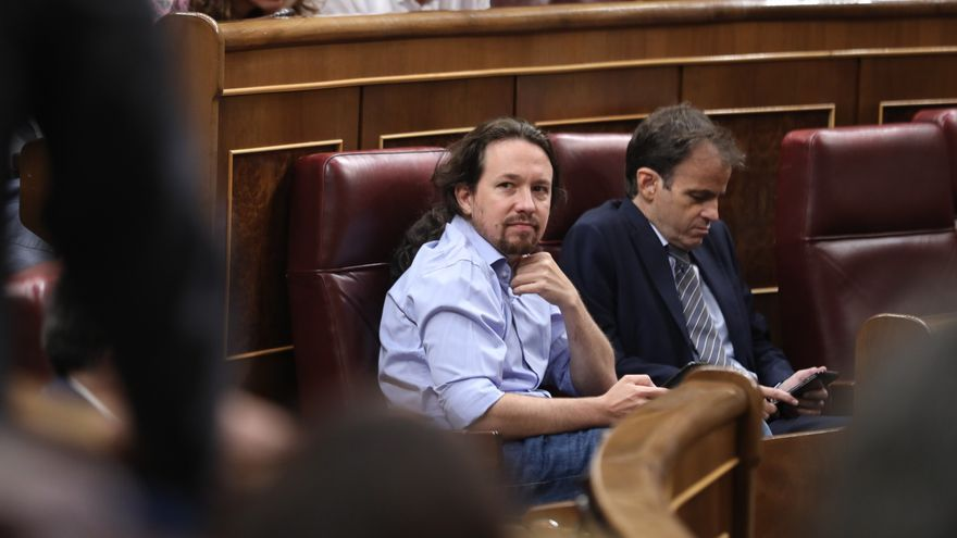 Pablo Iglesias, en la segunda jornada del debate de investidura, Foto: Marta Jara