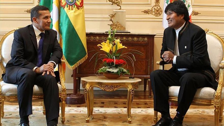 Morales y Humala no abordarán en la reunión bilateral la demanda marítima contra Chile
