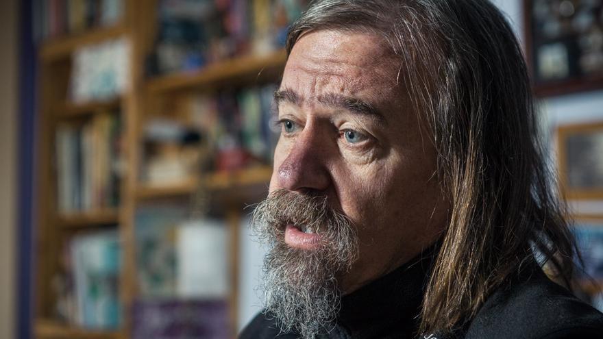 Daniel Raventós, editor de 'Sin Permiso' i un dels principals impulsors de la Renda Bàsica. /ENRIC CATALÀ