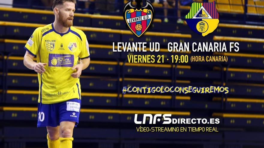 El Gran Canaria Fútbol Sala buscará la permanencia ante el Levante