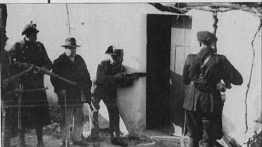 La Guardia Civil, en Casas Viejas.