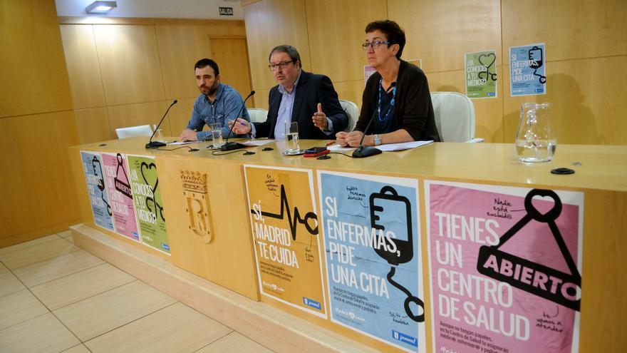 Rueda de prensa del Ayuntamiento de Madrid el pasado diciembre informando de la campaña Madrid Sí Cuida