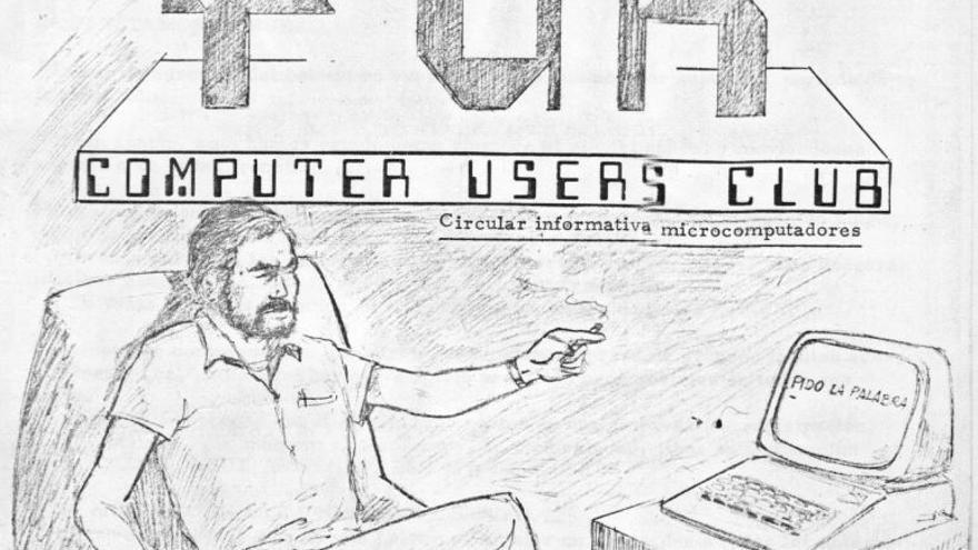 La portada de la revista creada por Alberto Lozano con consejos y tutoriales sobre los primeros ordenadores