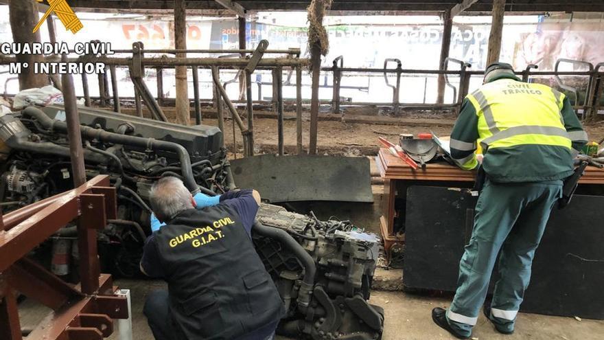 Detenidos por robar un camión para venderlo por piezas