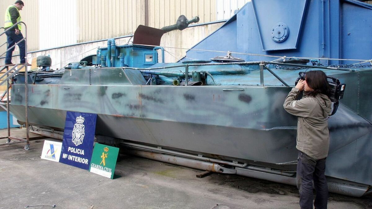 El primer narcosubmarino que capturó la Policía