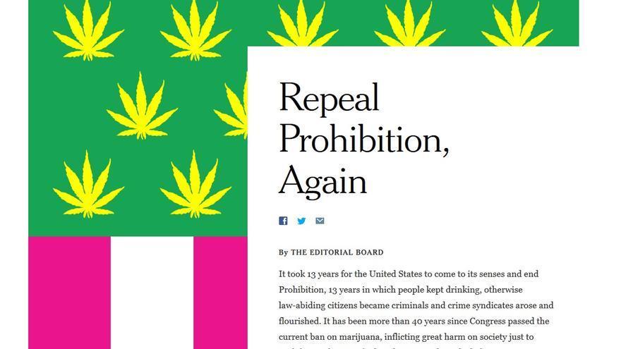 Captura del artículo del New York Times