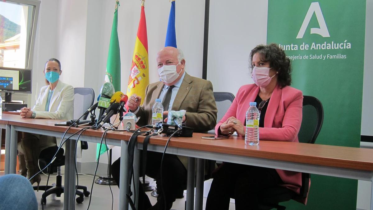 Jesús Aguirre en rueda de prensa en Jaén.