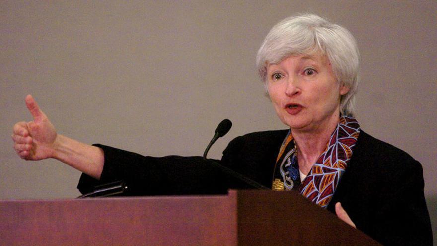 Janet Yellen, la gran esperanza de los que quieren un mayor control de Wall Street. Dan Honda / Zuma Press