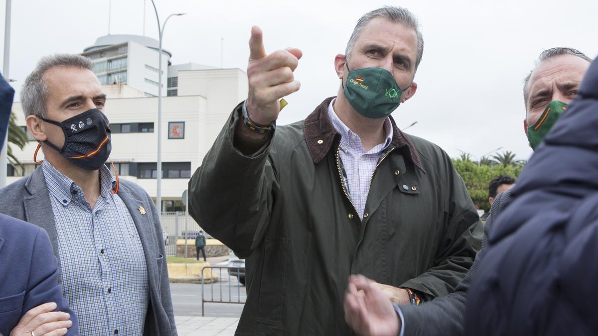 El portavoz de Vox en el Ayuntamiento de Madrid, Javier Ortega Smith, en un acto en Melilla.