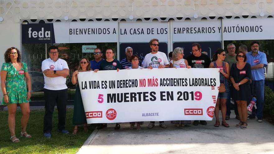 Concentración contra accidentes laborales Albacete