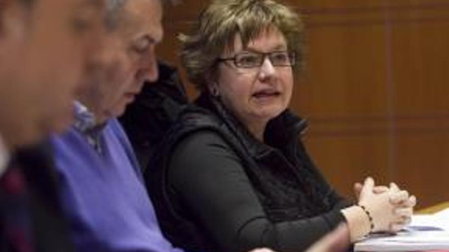 La abogada Juana Balamaseda durante su intervención en el Parlamento vasco.