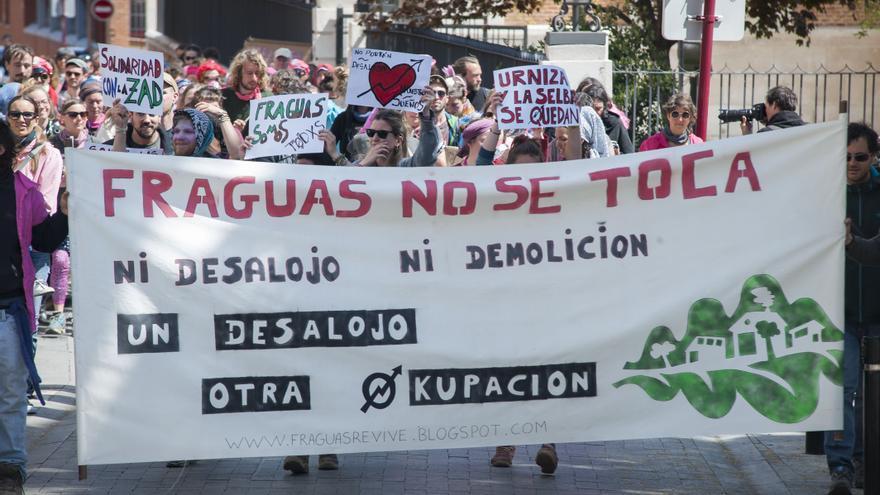 Manifestación de apoyo a los 'okupa de Fraguas' | Nando Rivero