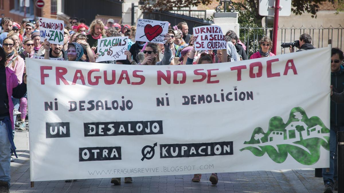 Manifestación de apoyo a los repobladores de Fraguas en 2018