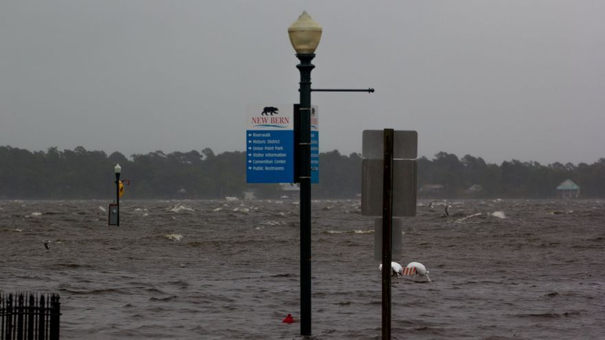 El huracán 'Florence' a su paso por Carolina del Norte