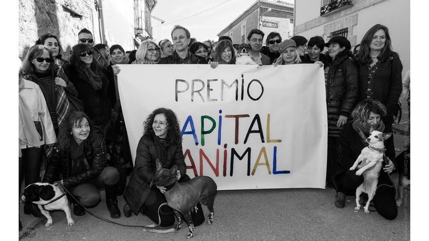 Llegada a Trigueros del Valle de la Caravana de Artistas CAPITAL ANIMAL. Foto: © Mario del Castillo (perrosgatosyretratos.com)