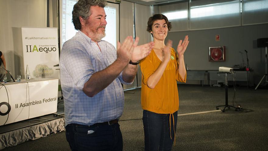 Juan López de Uralde y Rosa Martínez, durante la Asamblesa de Equo. / Foto cedida por Equo