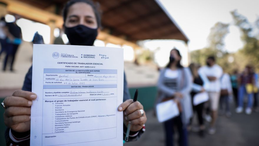 Paraguay abre la vacunación anticovid a mayores de 35 años