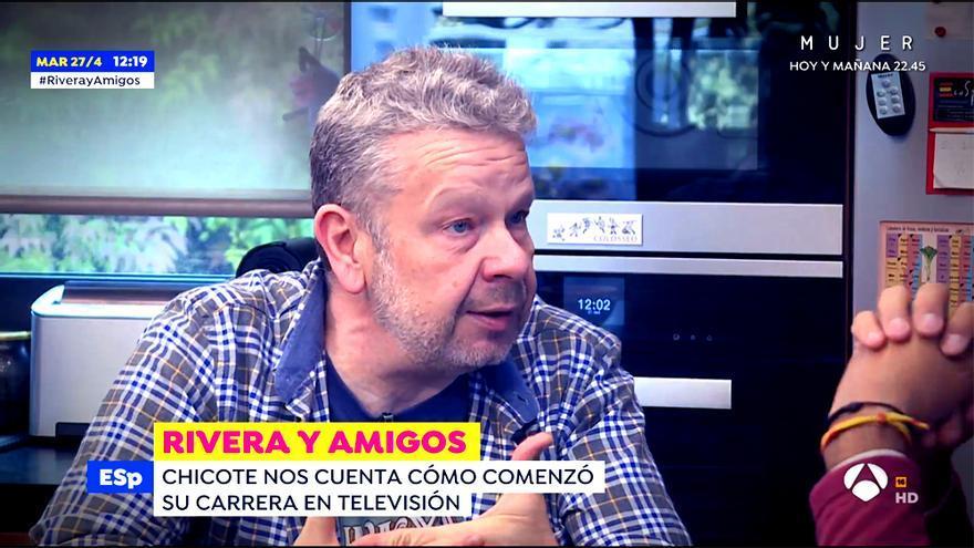 Chicote, hablando con Fran Rivera en 'Espejo Público'