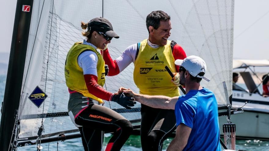 La grancanaria compite en la categoría de catamaranes mixtos Nacra17