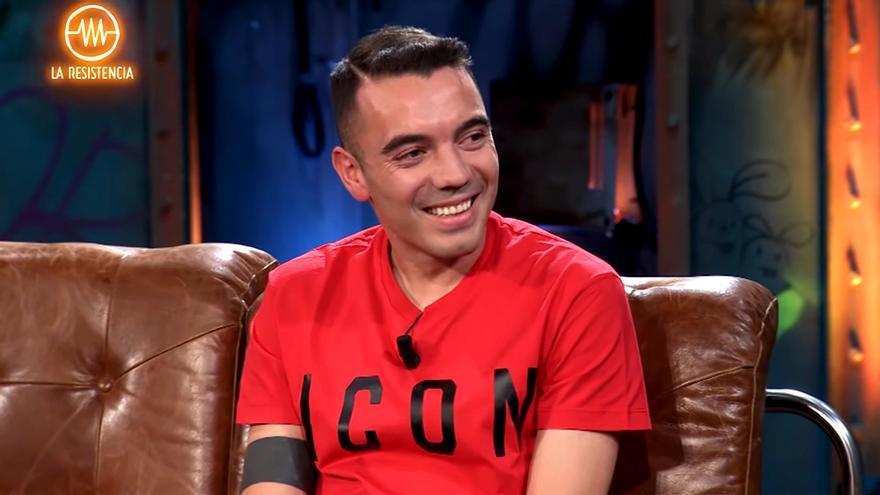 Iago Aspas, durante su entrevista en 'La Resistencia'