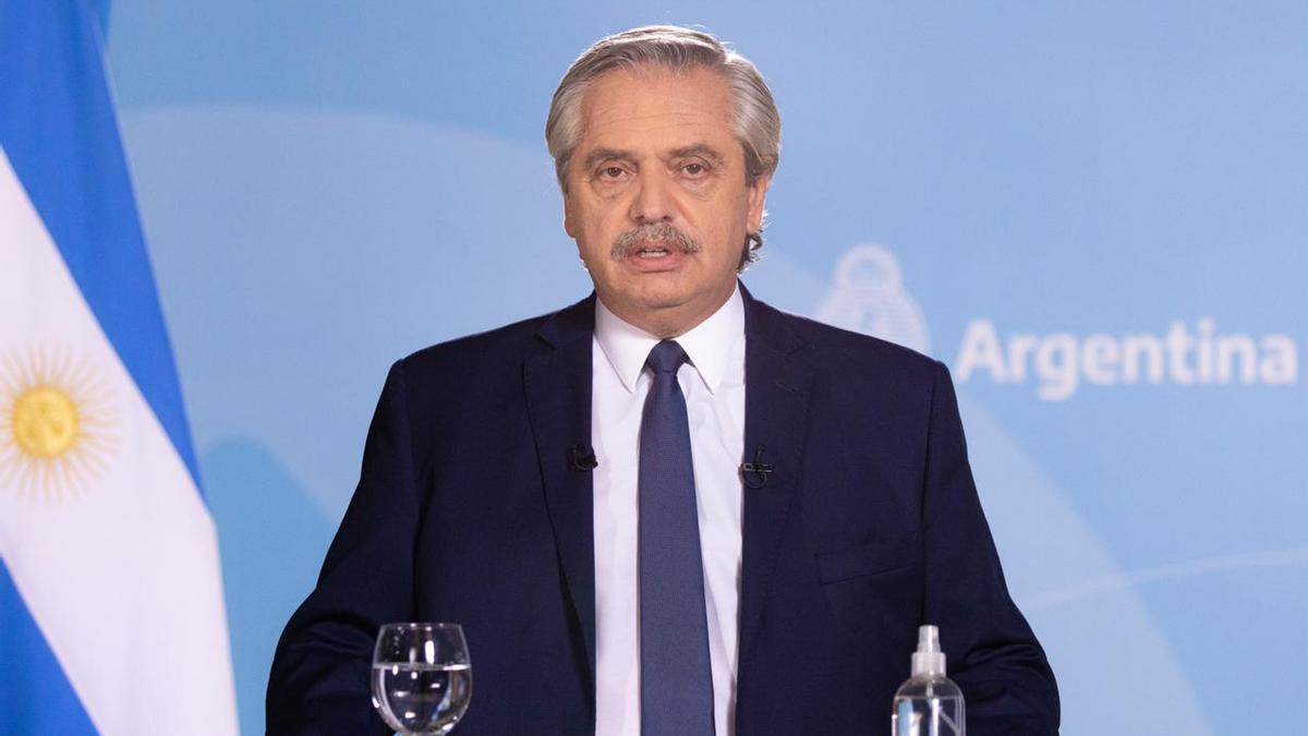 Alberto Fernández hizo un anuncio grabado