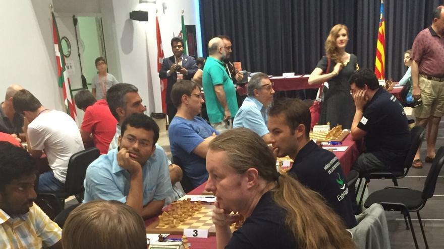 Uno de los momentos de la sexta jornada del campeonato español que se está celebrando en Linares