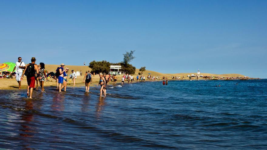 Playa de Maspalomas, en la costa sur de Gran Canaria. VIAJAR AHORA