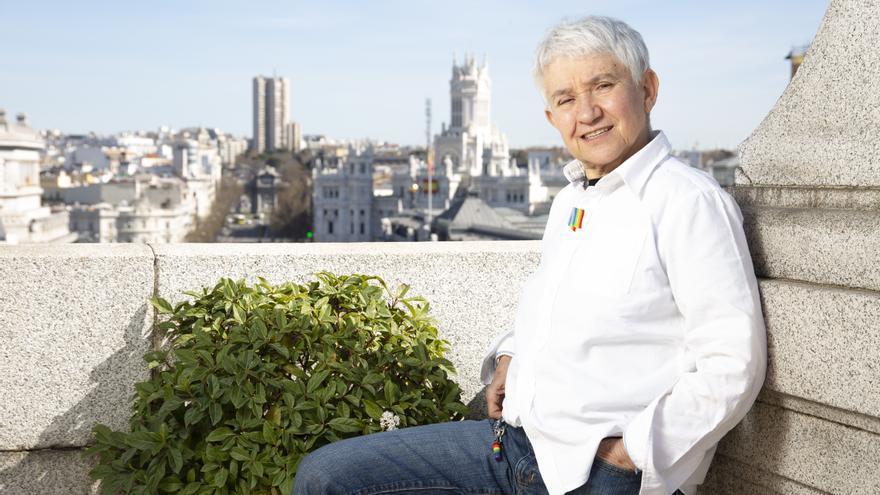 Boti García Rodrigo, en la azotea del edificio que alberga el Ministerio de Igualdad.