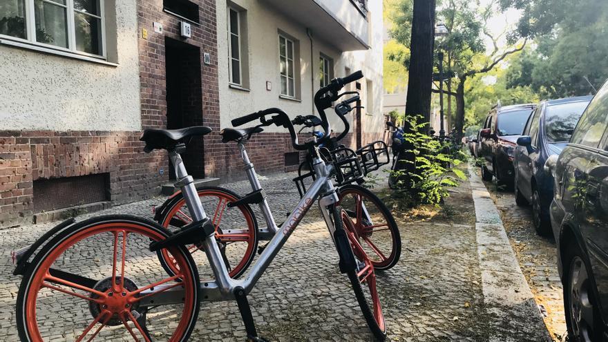 Bicicletas de Mobike en Berlín