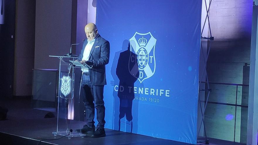 Miguel Concepción durante el acto en el que el CD Tenerife presentó la nueva temporada