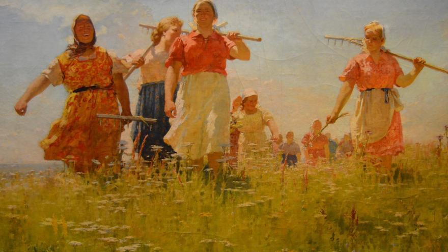 En los campos de paz (Andrey Mylnikov, 1950)