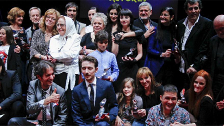"""""""La malvada"""" Adriana Ozores, """"La Lore"""" y el galán Aitor Luna, triunfadores de los premios de la Unión de actores"""