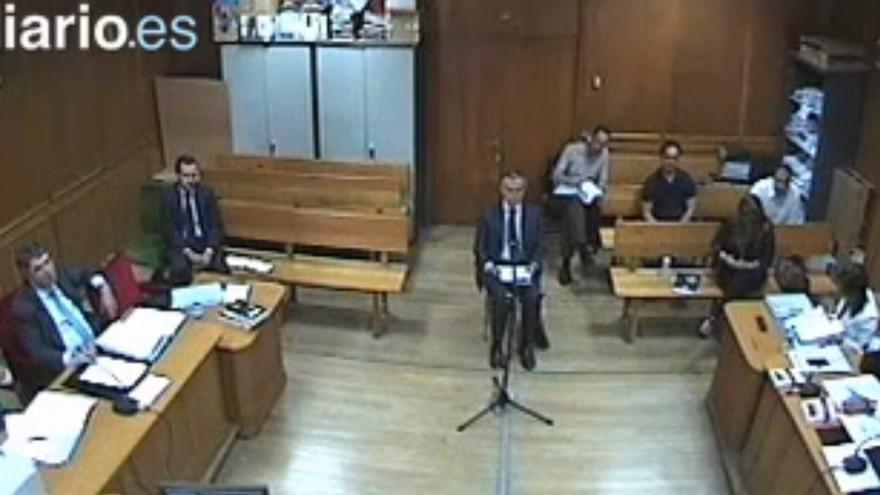 Captura del vídeo del interrogatorio a Miguel Blesa.
