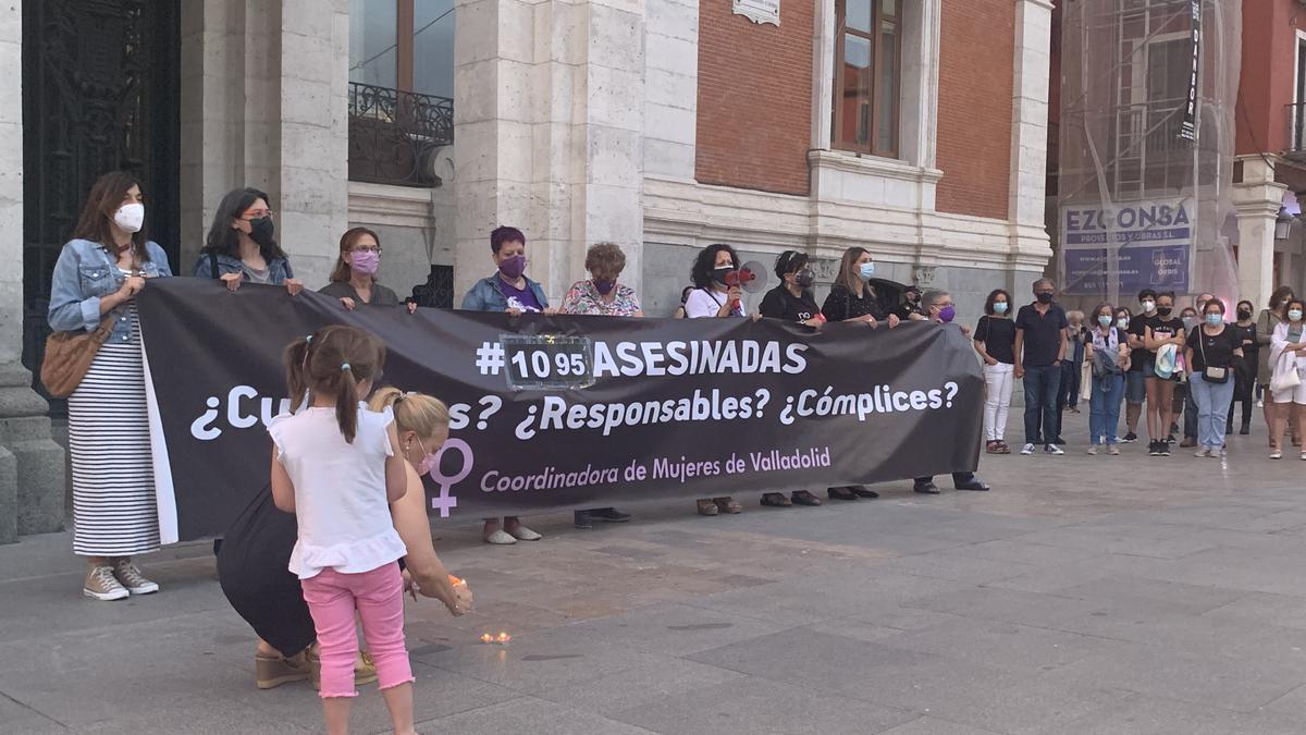 En Valladolid, manifestación contra la violencia machista.