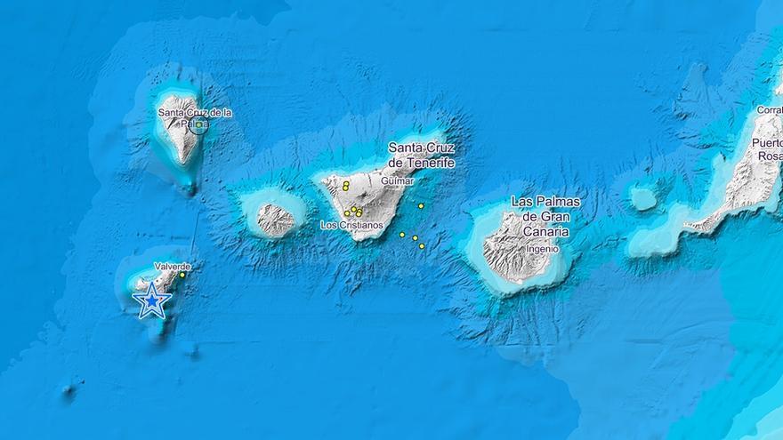 Últimos seísmos registradoS por el IGN en Canarias