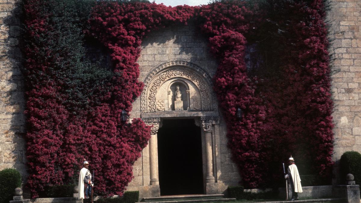 Vista de la puerta principal del Pazo de Meirás. EFE/Archivo