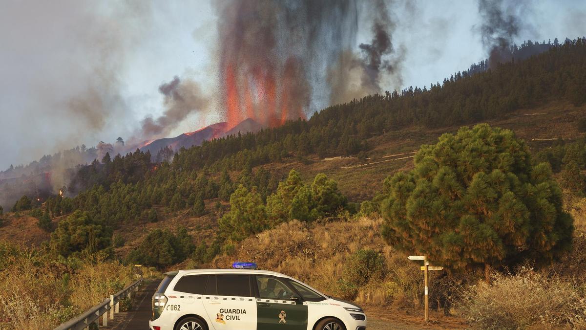 Segundo día de erupción en La Palma