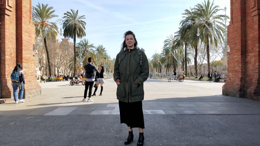 Nicoletta Ferrara, en el Arc de Triomf de Barcelona este jueves