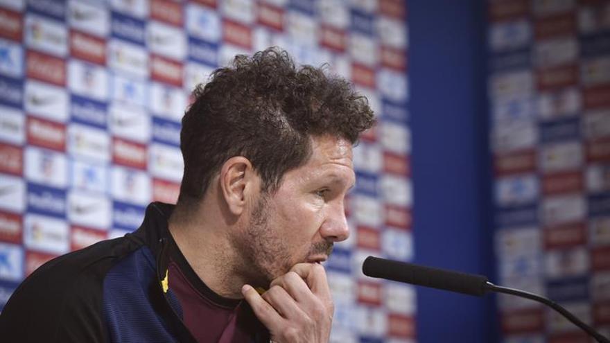 El entrenador del Atlético de Madrid, el argentino Diego Simeone. EFE/Fernando Villar