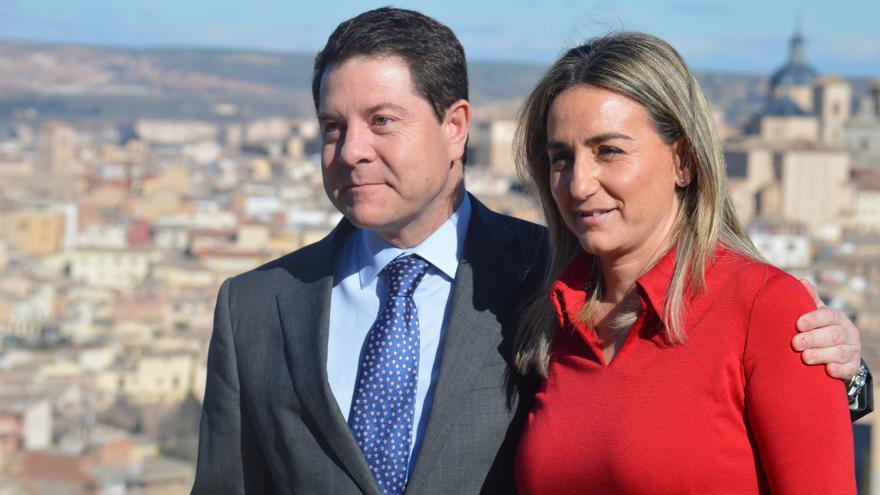 Emiliano García-Page y Milagros Tolón, candidato a la presidencia de Castilla-La Mancha y a la Alcaldía de Toledo / Foto: Javier Robla