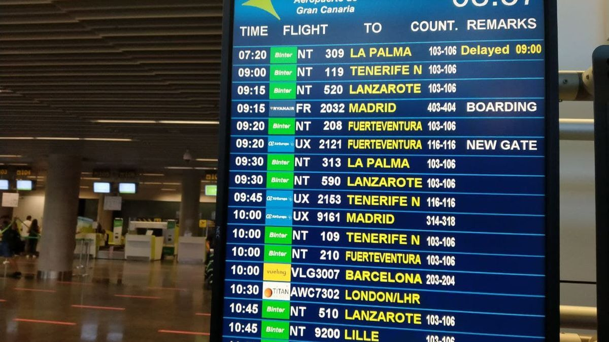 Vuelo a La Palma retrasado este jueves