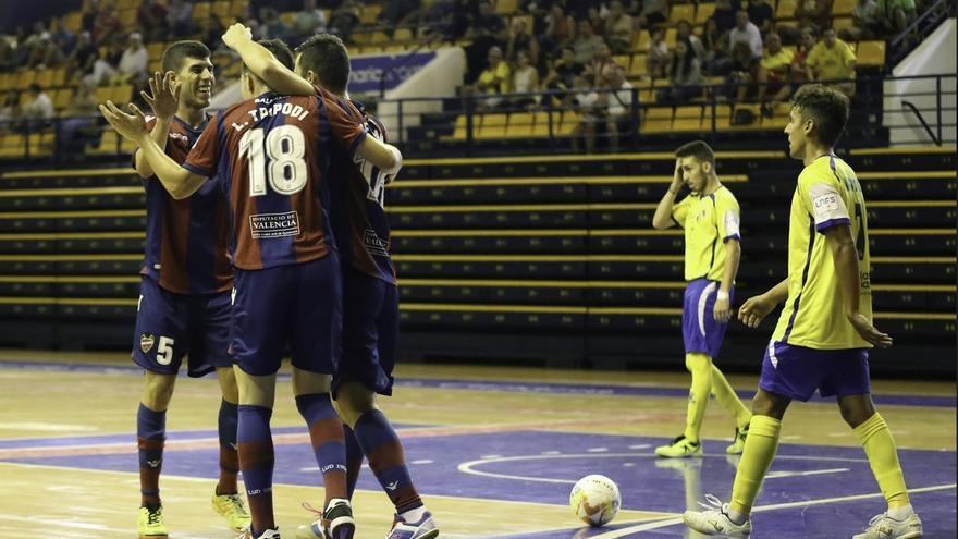 Imagen del partido entre el Levante y el Gran Canaria FS.